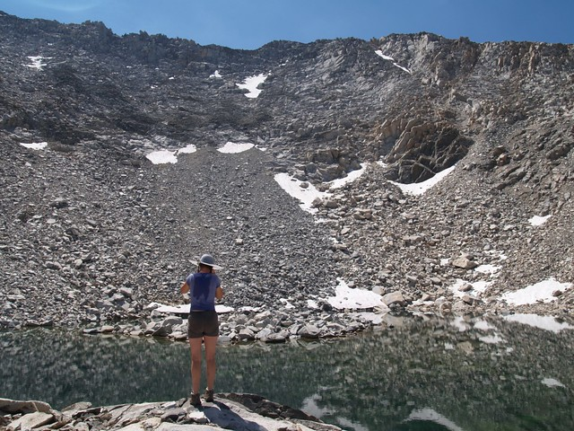 The highest of the Horseshoe Lakes, elevation 11,500 feet.