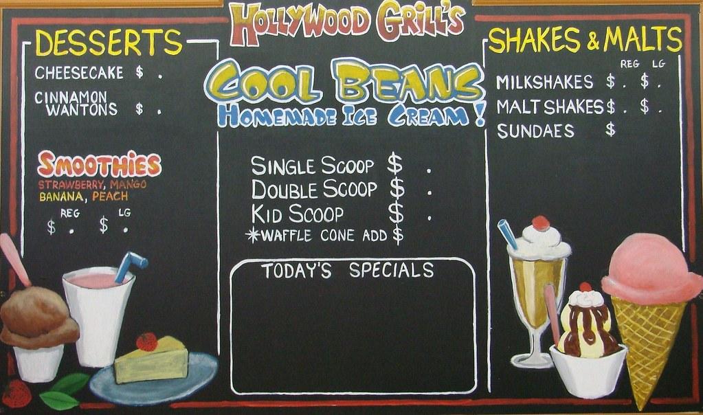 Hollywood Grill Chalkboard Menu Board - a photo on Flickriver