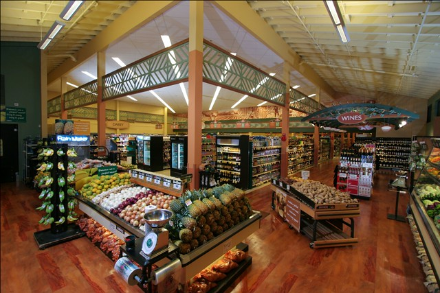 Interior Grocery Store Decor | Supermarket interior Upgrade | Market Dairy Section | Grocery Wine Section | Waikoloa Village Market | KTA Store