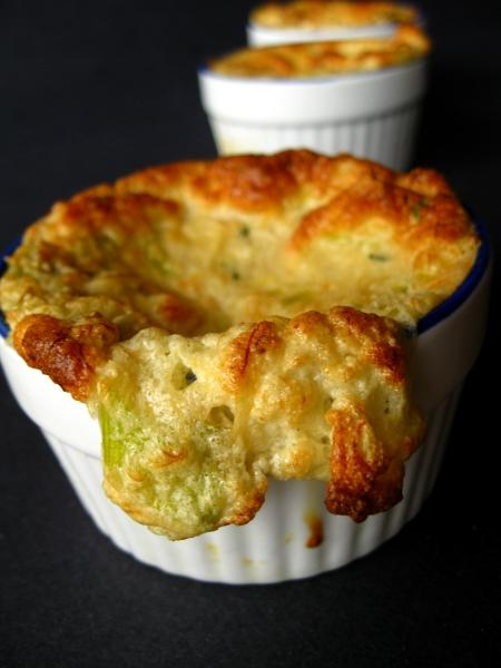 Crab and Leek Souffle