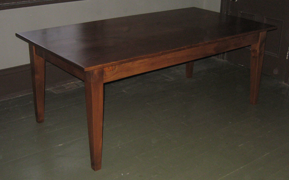 Pine table, antique pine stain
