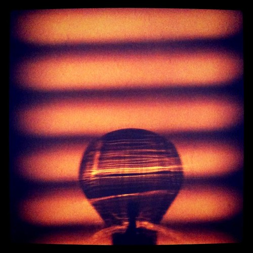 sunset shadow of a burnt out bulb