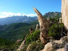 Col 658m de l'ancien sentier de Capeddu : crête Quercitella-Bonifacio