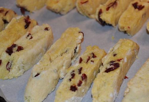 Cranberry Cornmeal Biscotti