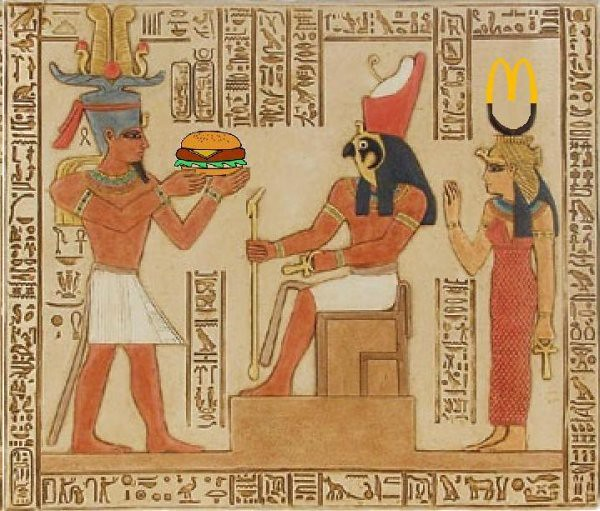 Small food garden - Pharaoh Ptolemy V Offering A Burger To Horus Mike Licht