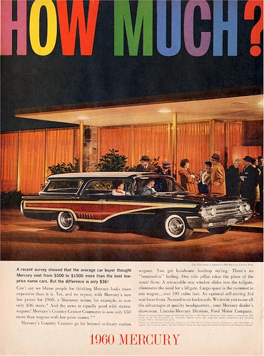 1960 Mercury Colony Park Wagon Ad - USA by Five Starr Photos ( Aussiefordadverts)