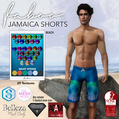 FABOO. Jamaica Shorts @ The Men's Zone July 2017