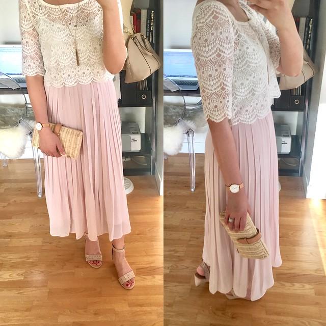 Uniqlo Women High Waist Chiffon Pleated Skirt, size XS