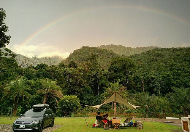 20170630 19年😎😎😎 請個半天露營不為過吧 不露 會blue #連彩虹也來慶祝 #完全就是可遇不可求 #歐北露 #不露會blue #campinglife