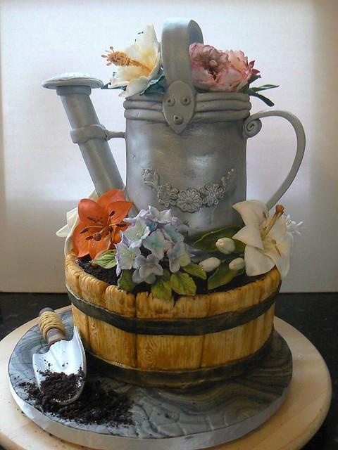 Sugar Sweet Gardening Cake by Dee Zoellner