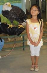 Olivia with Eagle