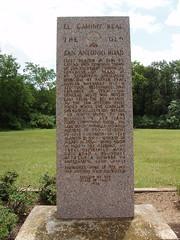 Photo of Moses Austin black plaque
