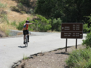 Dan starting the climb to the Mt. Diablo Summit