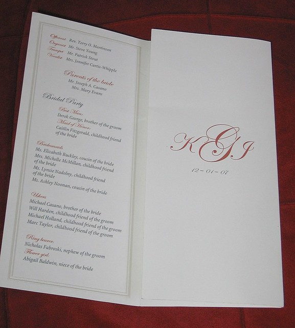 free tri fold wedding program template chica and jo