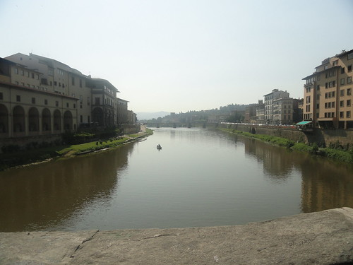 River Arno Absorbs The Beauty Of Surrounding Florence