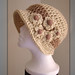 Crochet flapper hat by Fibreromance