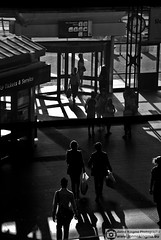Station Amsterdam Sloterdijk silhouettes and shadows