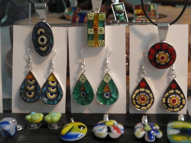 mini mosaic fused glass jewelry flickr photo sharing. Black Bedroom Furniture Sets. Home Design Ideas