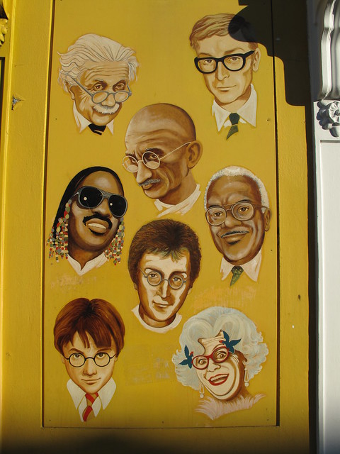 Dame Edna Yellow Glasses