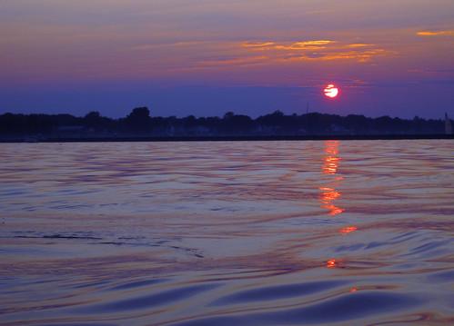 sunset sky sun lake newyork reflection water clouds evening kayak rochester kayaking lakeontario freshwater