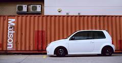 white Lupo GTI / Mamiya 645