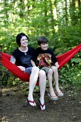 nick joins rachel in the hammock