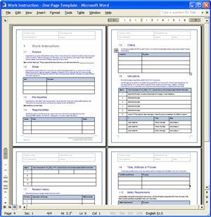 Instruction Template. work instruction template new template tko ...
