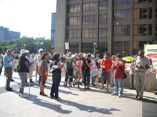 July 29 Detroit demonstration against the racist SB 1070 law in the state of Arizona. The implementation of the law was blocked by a suit filed by the Obama administration. (Photo: Bryan Pfeifer)  by Pan-African News Wire File Photos