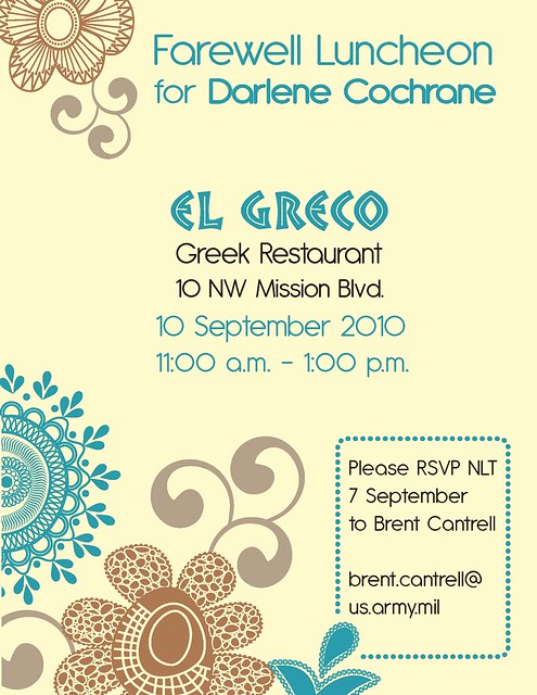 Farewell Luncheon Flyer Front | Flickr - Photo Sharing!