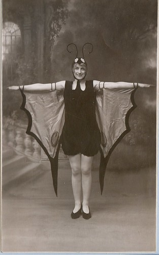 A woman dressed in a butterfly costume by Kingkongphoto & www.celebrity-photos.com