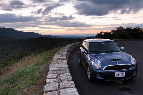 sunset mountains virginia va hdr minicoopers mcs skylinedrive shenandoahnationalpark snp r56 horizonblue rangeviewoverlook canonpowershots95
