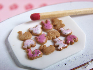 Animal Cookies - Pink and White