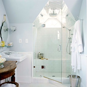 Better homes and gardens traditional white bathroom for Better homes and gardens bathroom designs