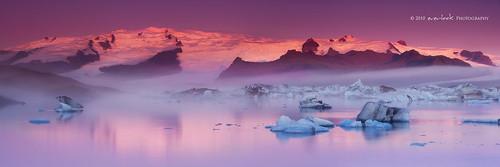 ice sunrise iceland lagoon glacier dee jokulsarlon