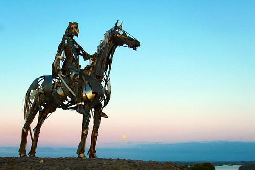sky moon evening boyle roscommon loughkey gaelicchieftain flickrgolfclub sculpturedbymauriceharron