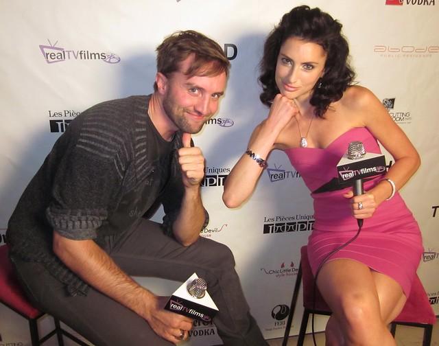 Aaron Poole, Samantha Gutstadt, RealTVfilms Social Media Lounge TIFF 2010