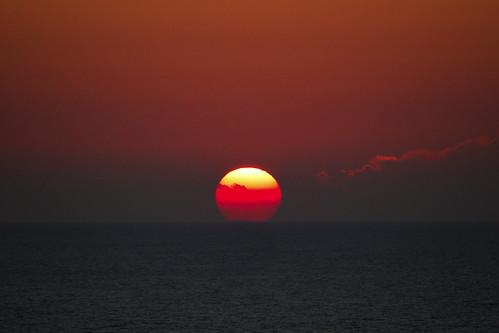 sunset greece med lefkas