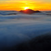 Fog Ocean Sunset by MikeBehnken