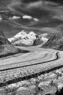Great Aletsch Glacier . UNESCO World Heritage