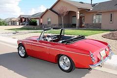 rolls-royce corniche(0.0), sunbeam tiger(0.0), automobile(1.0), vehicle(1.0), performance car(1.0), datsun roadster(1.0), antique car(1.0), classic car(1.0), land vehicle(1.0), convertible(1.0), sports car(1.0),