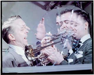 [Portrait of Stan Kenton and Buddy Childers, Richmond, Va., 1947 or 1948] (LOC)