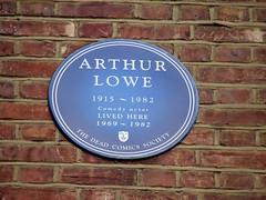 Photo of Arthur Lowe blue plaque