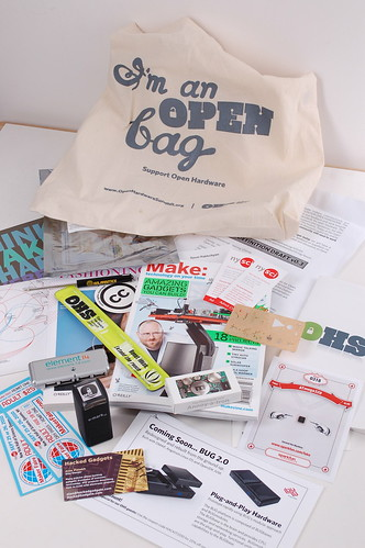 OSHW summit goodie bag