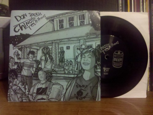 "Chinese Telephones / Dan Padilla - Split 7"" - Blue Cover/Black Vinyl"