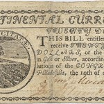Twenty Dollars of Continental Currency, 1775