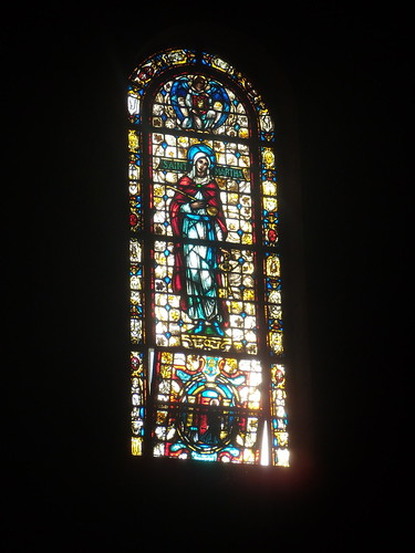 Stained Glass Window at Wernersville, from the floor of the hallway. Photo by Wayne Stratz.