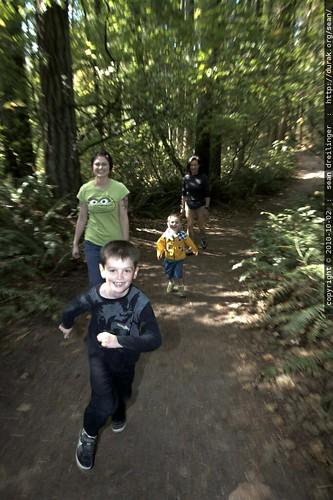 nick racing down the trail