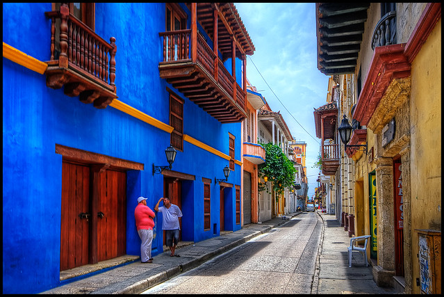Street Scene in Cartagena, Colombia