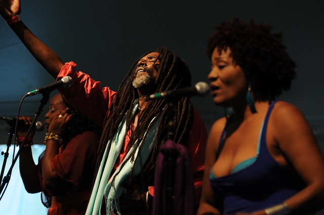 Haiti's Boukman Eksperyans brought a high energy performance to the festival. Photo by Michael Ratliff.