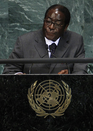President Robert Mugabe of Zimbabwe addressing the United Nations General Assembly in New York on September 24, 2010. The veteran revolutionary liberation movement leader has come under severe attack by U.S. and British imperialism. by Pan-African News Wire File Photos
